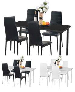 Stół 4 Krzesła Zestaw Do Jadalni Nowoczesny Bl