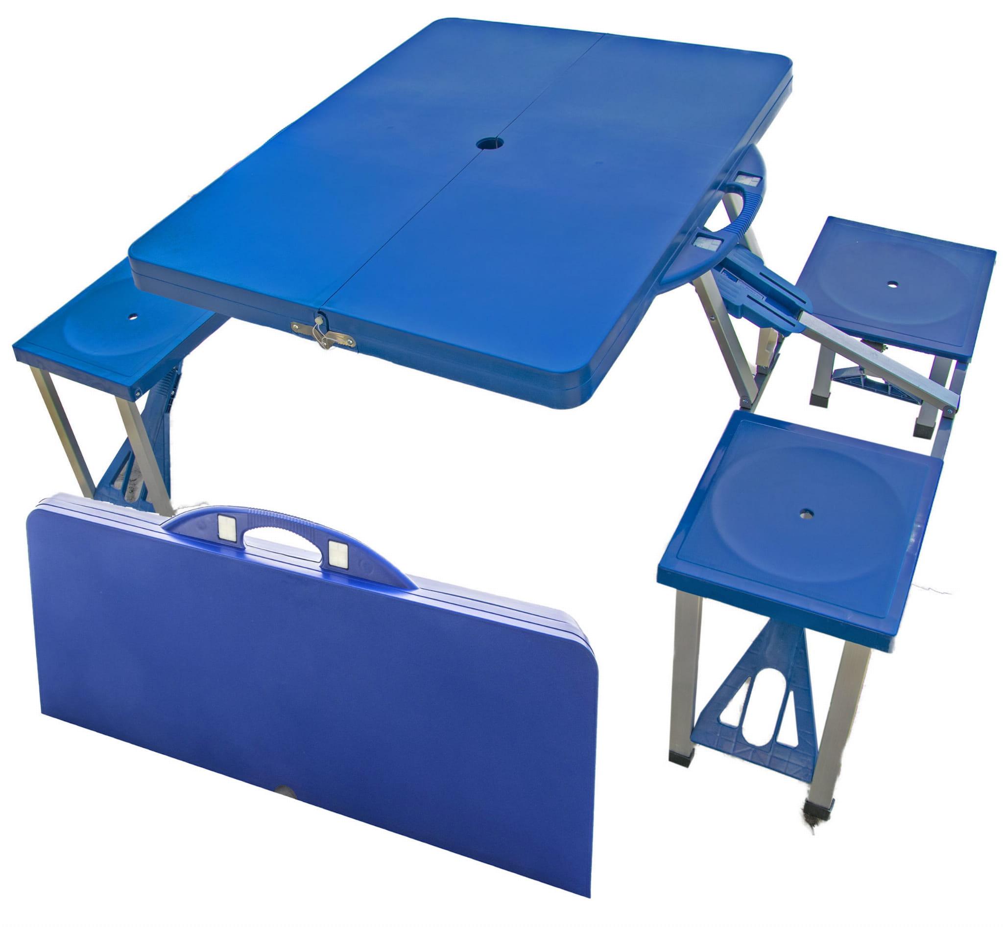 Stół Turystyczny Kempingowy Składany Stolik Zestaw ławka 4 Krzesła