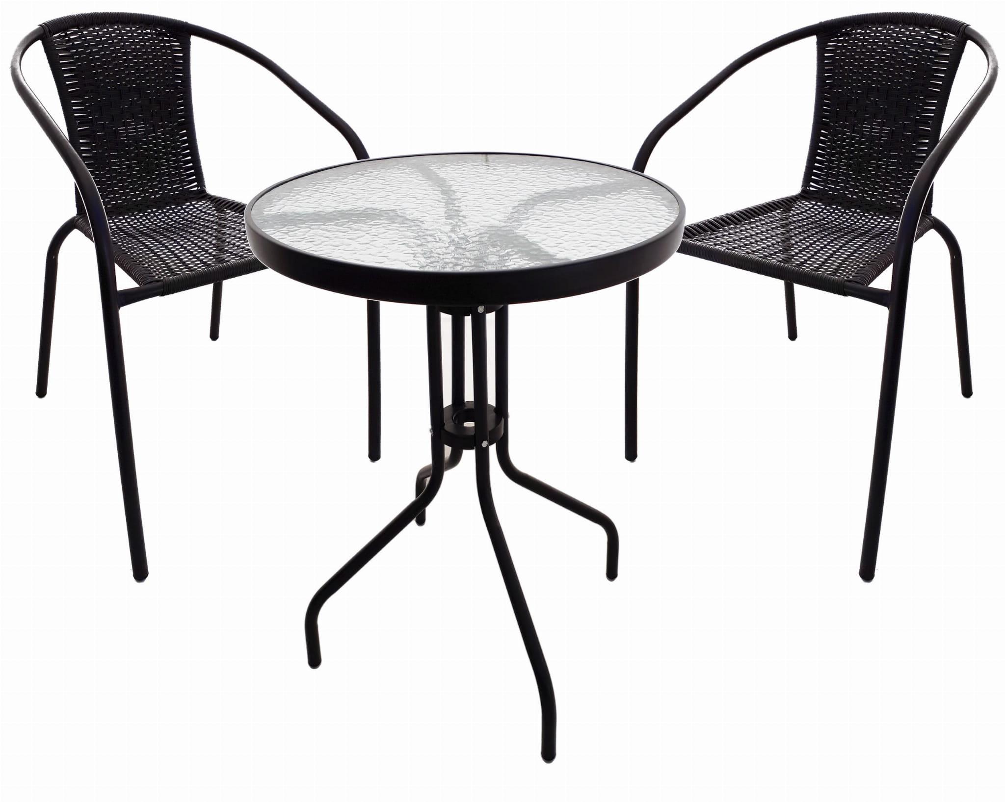 Komplet Ogrodowy Barowy Bistro Stolik 2 Krzesła