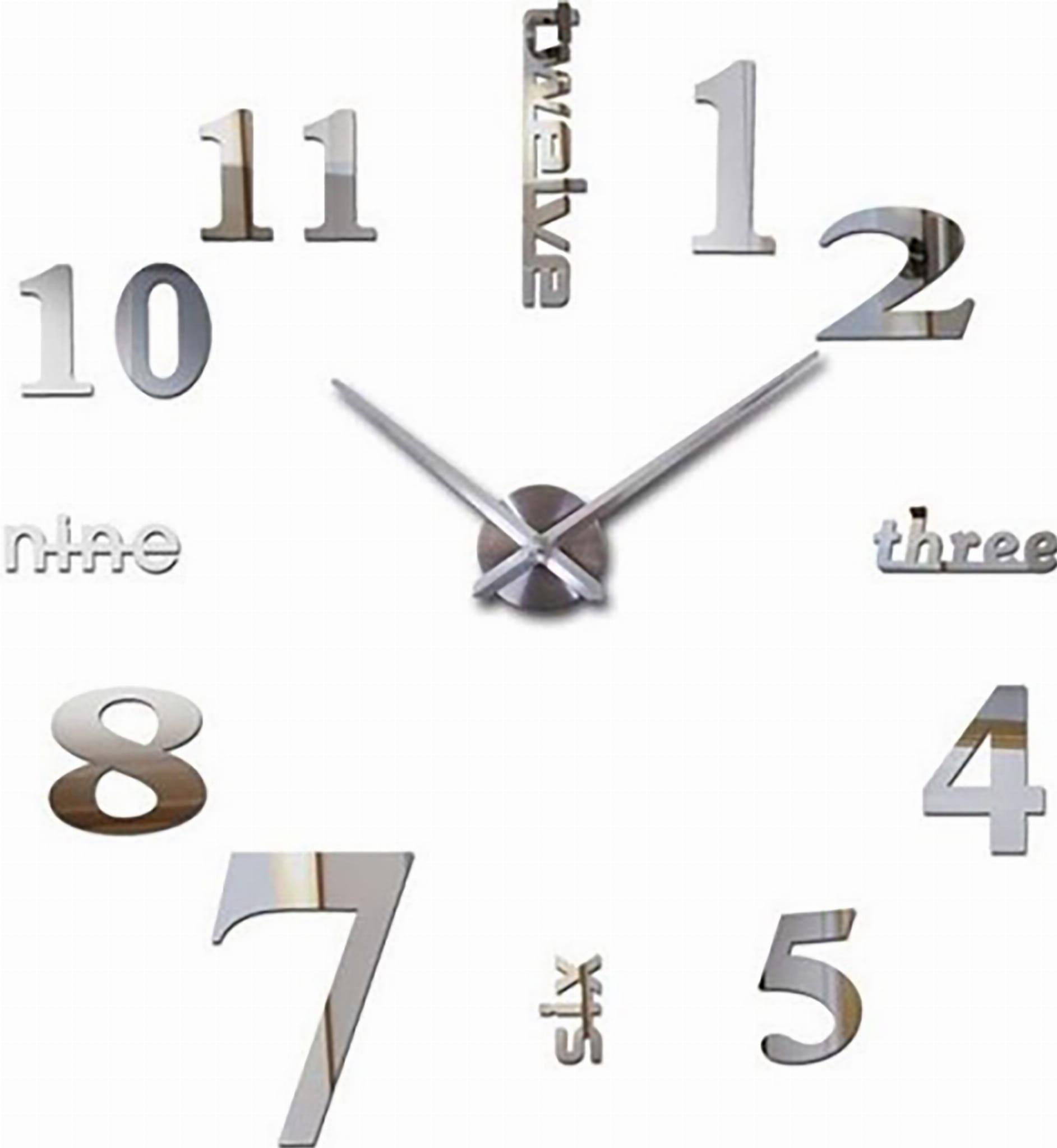 Zegar ścienny Naklejany Nowoczesny 3d Diy 120 X5s Twelve