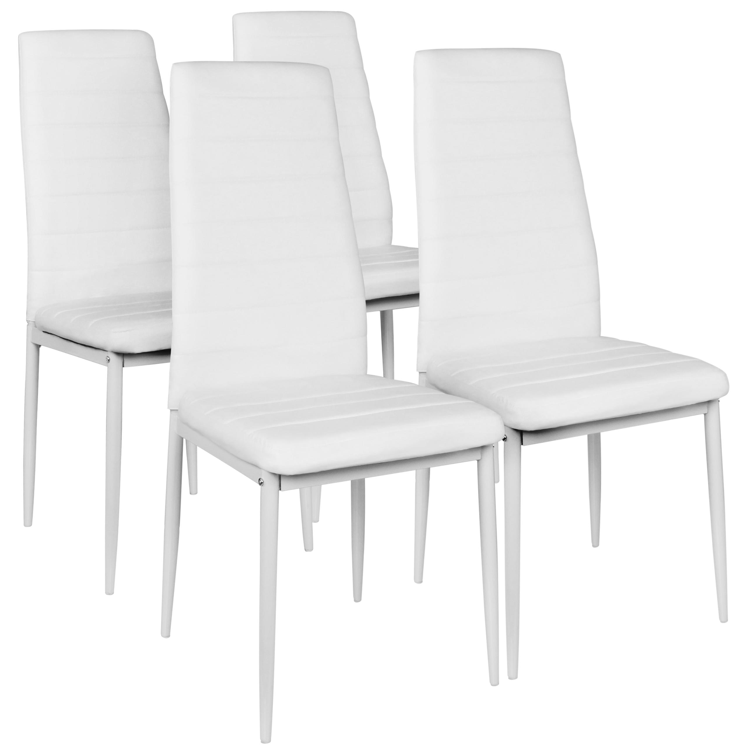 4 Krzesła Tapicerowane Brązowe Krzesło Salon Jadalnia Białe